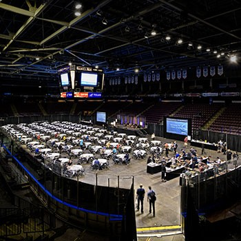 South Okanagan Events Centre convention set up