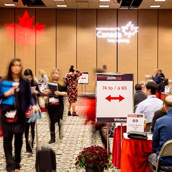 GoMedia Marketplace 2015 tradeshow floor in Penticton
