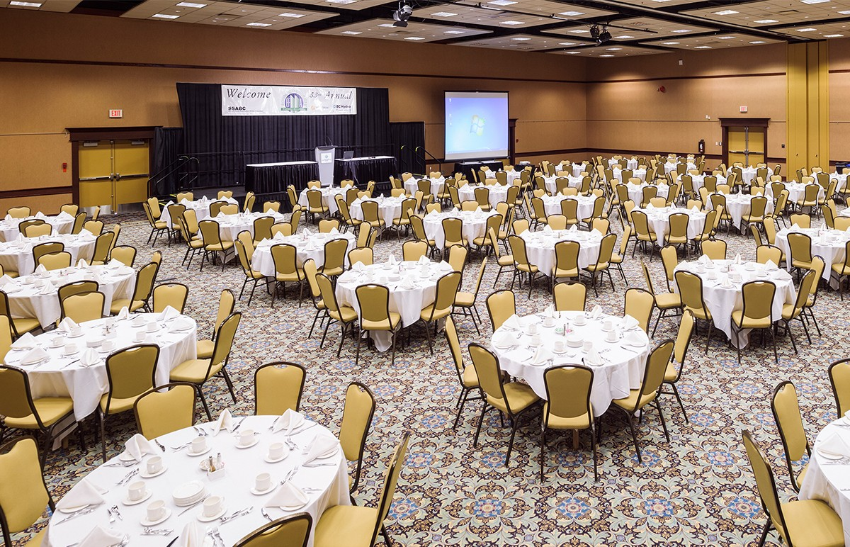 Penticton Trade and Convention Centre ballroom meeting set