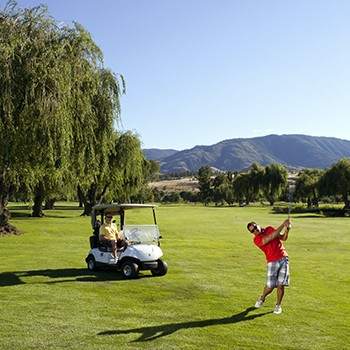 Two men golfing at Penticton Golf and Country Club