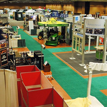 CHBA Home and Reno show exhibitor booths in ballrooms