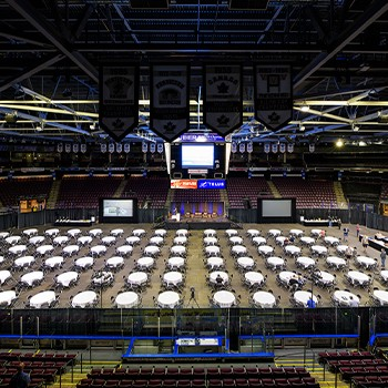 South Okanagan Events Centre Banquet Set Up