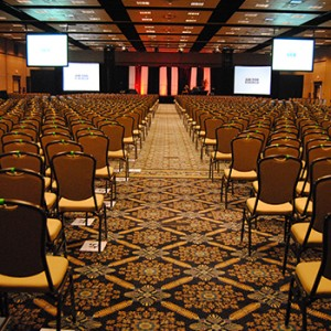 Deepak Chopra Ballroom 1 classroom set up
